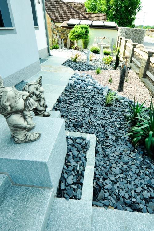 Steinarbeiten und Kiese